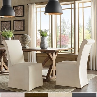 Link to Potomac Slipcovered Rolled Back Parsons Chairs (Set of 2) by iNSPIRE Q Artisan Similar Items in Dining Room & Bar Furniture