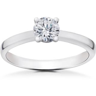 14k White Gold 1/2 ct TDW Lab Grown Eco Friendly Diamond Gabriella Engagement Ring