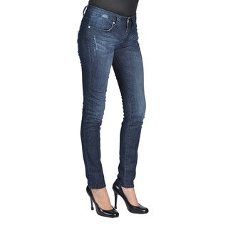 C'est Toi Women's Dark Wash Denim Skinny Jeans