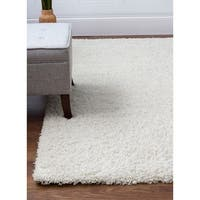 Feel So Soft Solid Stain-resistant Shag Rug (5' x 8') - 5' x 8'