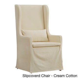 SIGNAL HILLS Potomac Slipcovered Wingback Host Chair