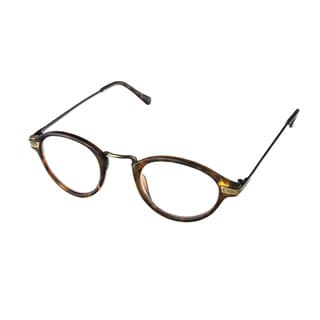 Hot Optix Unisex Plastic/Acrylic/Metal Round Reading Glasses