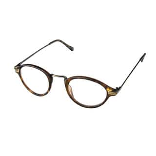 6e7f162a9080 Hot Optix Unisex Plastic Acrylic Metal Round Reading Glasses
