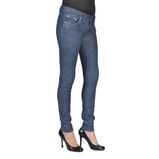 C'est Toi Womens Stud Pocket Skinny Indigo Grey Jeans