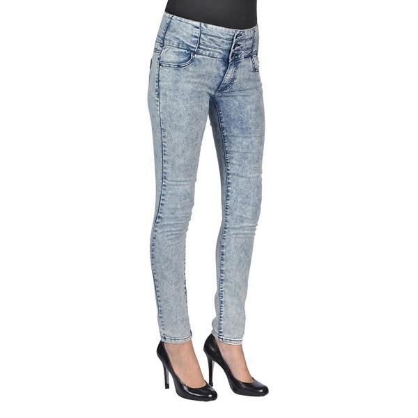 C'est Toi Denim Acid Washed Skinny Jeans