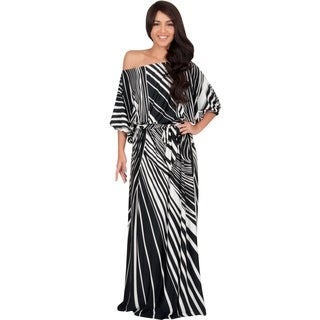 Koh Koh Women's Printed Multicolored Empire-waist Maxi Dress