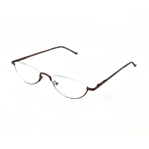 cae0f76b4a1 Shop Hot Optix Unisex Oval Semi-rimless Reading Glasses - Free ...