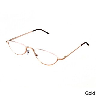 Hot Optix Unisex Oval Semi-rimless Reading Glasses (More options available)