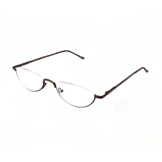 Hot Optix Unisex Oval Semi-rimless Reading Glasses