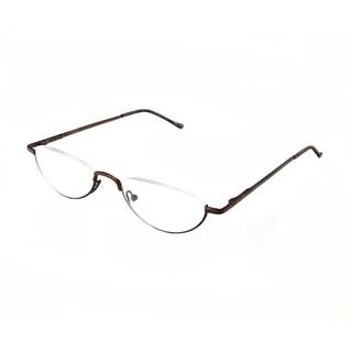 Hot Optix Unisex Oval Semi-rimless Reading Glasses (Option: Grey)