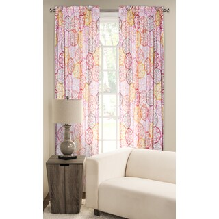 SIScovers Olivia Multicolored 84-inch Rod Pocket Curtain Panel
