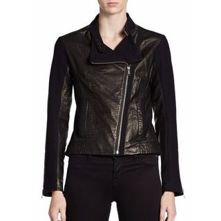 Andrew Marc Black Crocodile Leather Medium Jacket