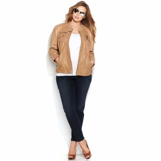 Michael Kors Beige Leather Jacket