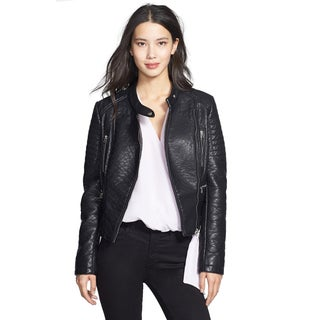 Laundry By Design Black Faux-leather Turtle Jacket
