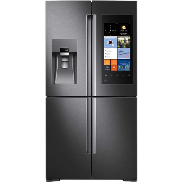 Samsung Black Stainless Steel 28 Cubic Foot 4 Door Refrigerator With Family H
