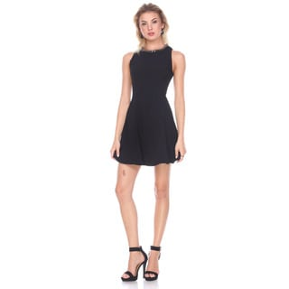 Stanzino Women's Black Polyester A-line Dress