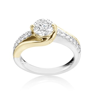 SummerRose 14k Gold Two-Tone 1.28ct TDW Diamond Engagement Ring