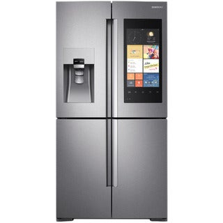 Samsung Stainless Steel 22-cubic-foot 4-door Counter-depth Refrigerator with Family Hub