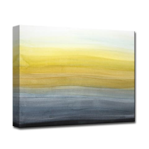 Evening Glowing' by Norman Wyatt Jr. Abstract Wrapped Canvas Wall Art