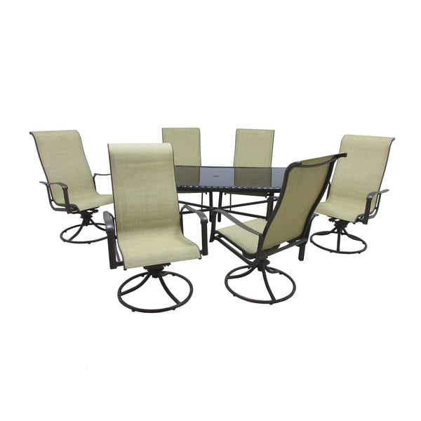 Shop Pacifica Glass-top Table 7-piece Patio Dining Set