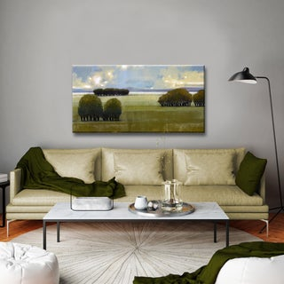 Ready2HangArt 'Nice Green I' by Norman Wyatt Jr. Canvas Art