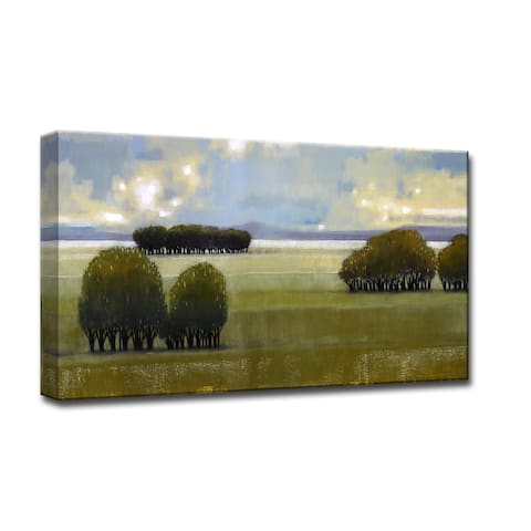 Nice Green I' by Norman Wyatt Jr. Scenic Wrapped Canvas Wall Art