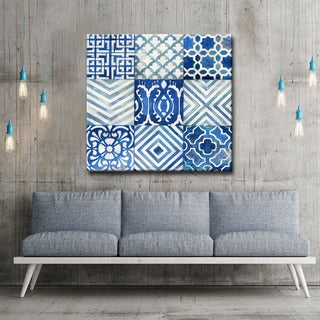 Ocean Couture' by Norman Wyatt Jr. Patterned Wrapped Canvas Wall Art