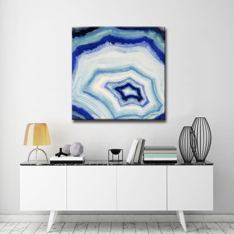 Ocean Geode II' Abstract Wrapped Canvas Wall Art