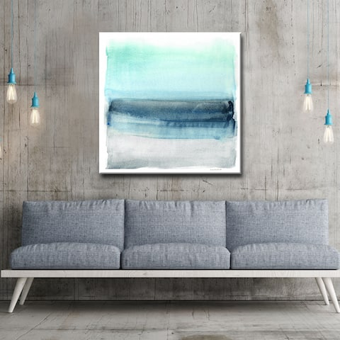 Linear Energy I' by Norman Wyatt Jr. Abstract Wrapped Canvas Wall Art