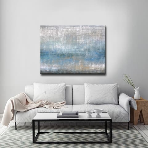 Buckroe Beach' by Norman Wyatt Jr. Abstract Wrapped Canvas Wall Art