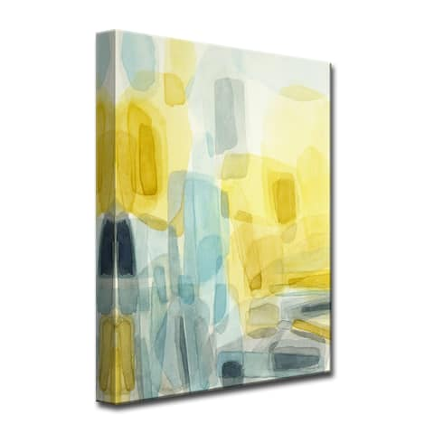 Sunshine and Rain' Abstract Wrapped Canvas Wall Art