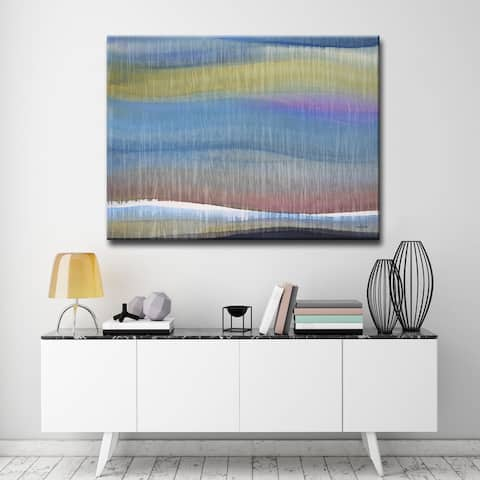 Painted Horizon' by Norman Wyatt Jr. Abstract Wrapped Canvas Wall Art