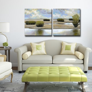Desert Pools I/II' by Norman Wyatt Jr. Wrapped Canvas Wall Art