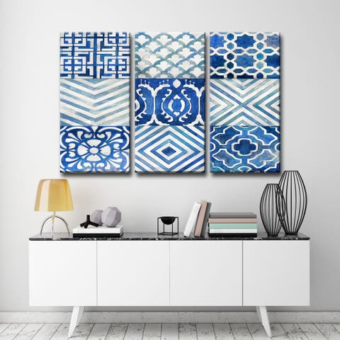 Ocean Couture I-III' by Norman Wyatt Jr. Wrapped Canvas Wall Art