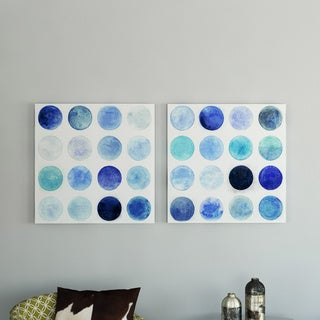 Ready2HangArt 'Blue Moons I/II' by Norman Wyatt Jr. Canvas Art