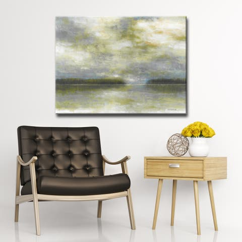Serenity Now' by Norman Wyatt Jr. Abstract Wrapped Canvas Wall Art