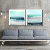 Havenside Home Linear Energy I/II' by Norman Wyatt Jr. Canvas Art