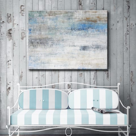 Sandy Shores' by Norman Wyatt Jr. Abstract Wrapped Canvas Wall Art