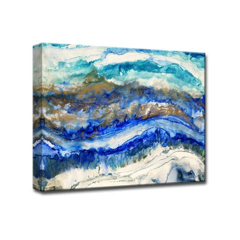 Sea Jewels' by Norman Wyatt Jr. Abstract Wrapped Canvas Wall Art