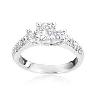 SummerRose 14k White Gold 1 1/6ct TDW Diamond Engagement RIng (I-J, SI2-I1)