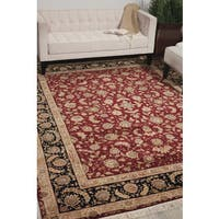 Nourison Royalty Burgundy Area Rug - 7'9 x 9'9