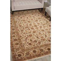 Nourison Royalty Beige Area Rug - 7'9 x 9'9