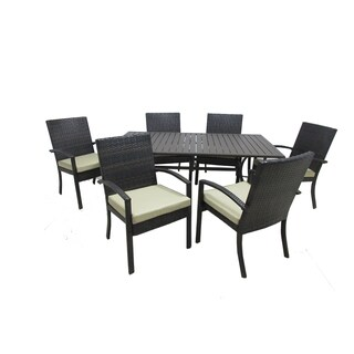 Chelsea Patio 7-piece Wicker Dining Collection