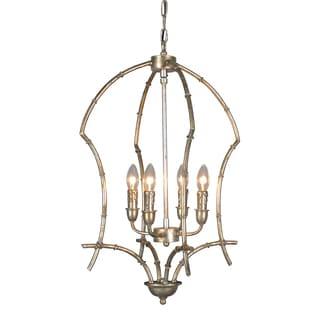 Aurelle Home Hennesy Elegant Silver Pendant Lamp