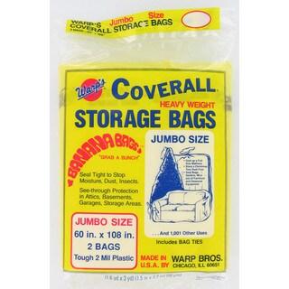 """Warps CB-60 2-count 60"""" X 108"""" Jumbo Storage Bags"""