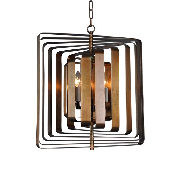 Aurelle Home Scape Brass Mid Century Modern Pendant Lamp