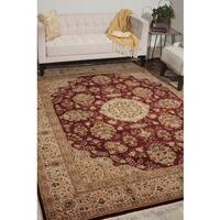 Nourison Royalty Burgundy Area Rug