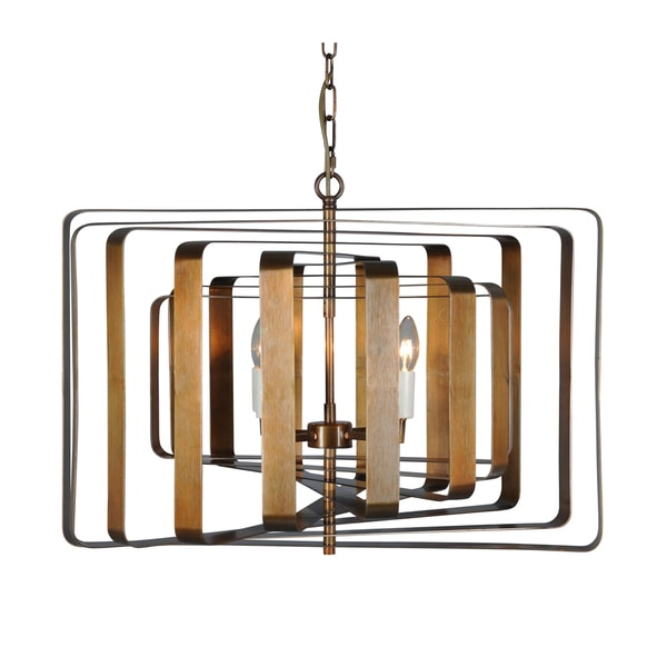 Aurelle Home Antique Bronze Color Pendant Lamp