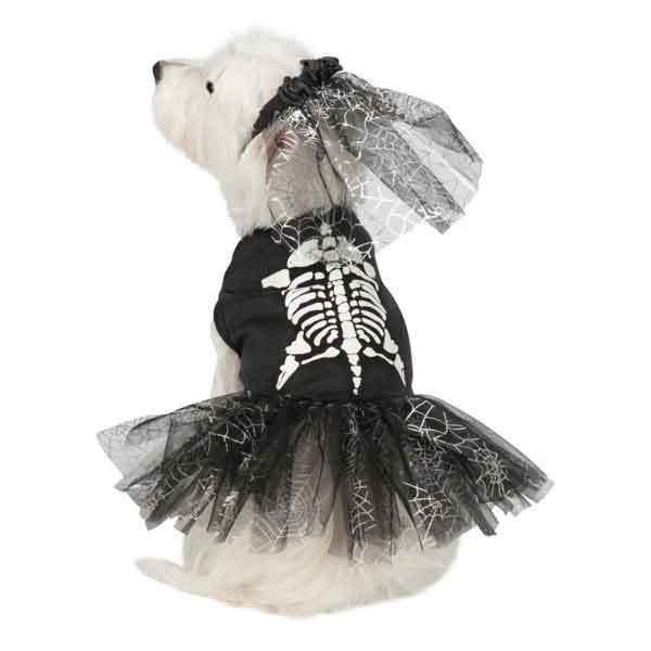 Casual Canine Glow-in-the-Dark Skeleton Zombie Dog Costum...