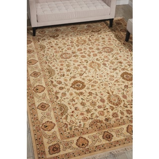 Nourison Royalty Beige Area Rug (7'9 x 9'9)